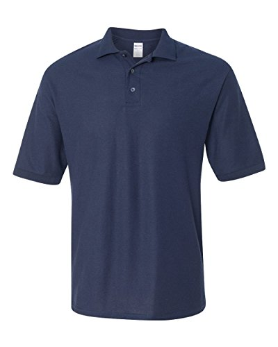 Jerzees Men's 5.3 oz., 65/35 Easy-Care Polo, Large, J NAVY ()