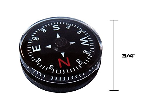 Type-III 12pc Liquid Filled 20mm Compasses for Emergency Survival Kits and Paracord ()
