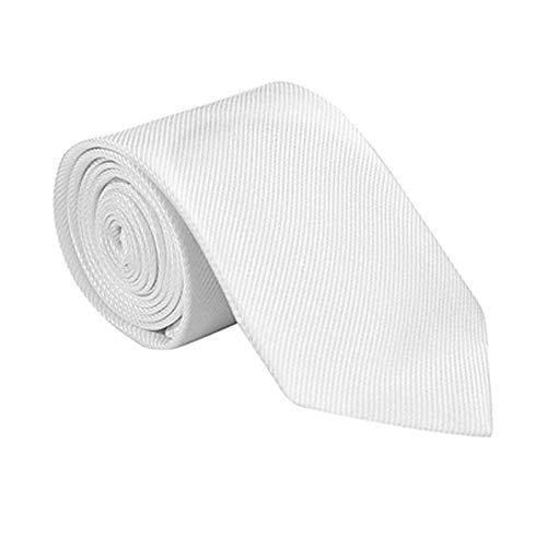 Boy's Classic White Stripe Tie, 45 inch