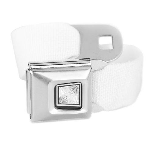 White Seatbelt Buckle Belt
