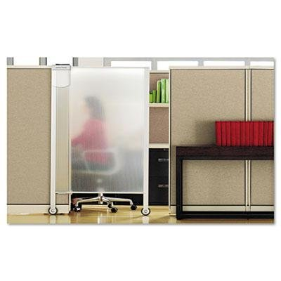 Quartet - Premium Workstation Privacy Screen 38W X 65D Translucent Clear/Silver ''Product Category: Office Furniture/Privacy Screens/Study Carrels''