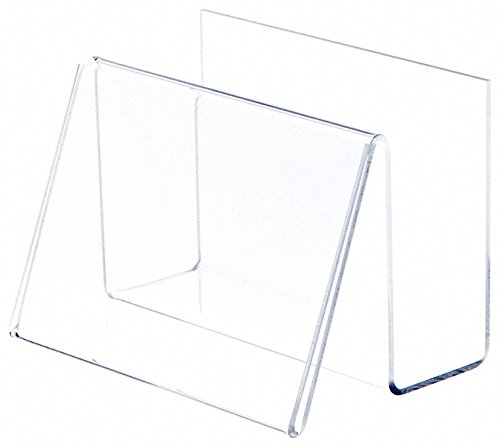 "Plymor Brand Deluxe Clear Acrylic Post Card Holder & Display, 6"" W x 4.25"" D x 4.5"" H"