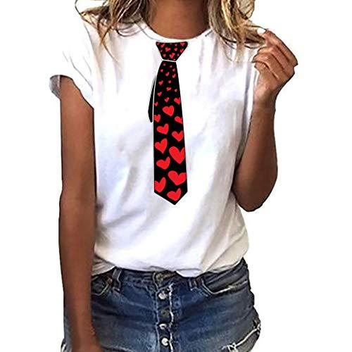 Women Girls Plus Size Print Tees Shirt Short Sleeve T Shirt Blouse Tops White