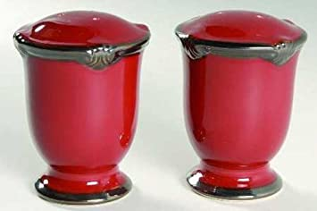Embassy Burgundy Salt u0026 Pepper Set by Kari Design- Certified International Dinnerware & Amazon.com: Embassy Burgundy Salt u0026 Pepper Set by Kari Design ...