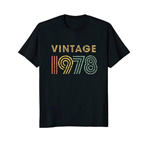 Vintage T-shirt Born in 1978 Retro 40th Birthday Gift by Super Vintage Birthday Shirts