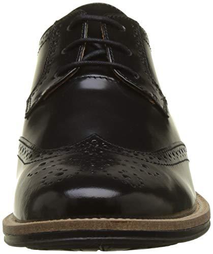 Newton Scarpe Perfo black Noir Oxford Box Schmoove Donna 15 Stringate d1qWtwn