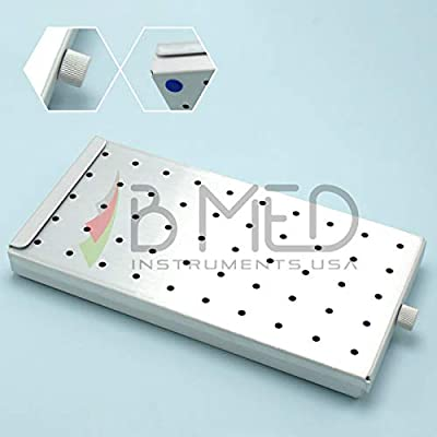 """Dental Surgical Autoclave Sterilization Cassette Box Tray with Silicon Mat Ophthalmic Instruments 8"""" X 4"""" X 3/4"""""""