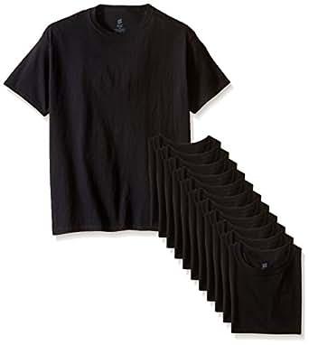 Hanes Little Boys' Comfortsoft T-Shirt (Pack of 12), Black, X-Small