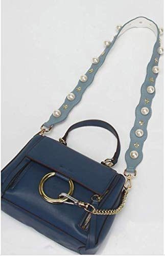mano x bolso piel Correa TSHOME perla color azul celeste celeste 90 4 de cm azul para de sintética Xn1z10Bqx