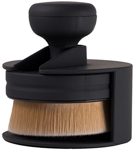 Ultra Soft Round Makeup Brush - Flat Brush with Stand for Make up - Perfect for Foundation, Concealer, Blush, Cosmetics, Cream, Skincare, Powder - Look Gorgeous Now - by TI - Now Ti