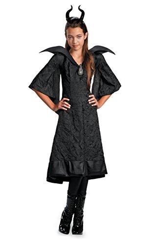 71817 10-12 Child Christening Gown Maleficent Disney Maleficent Costume Black ()