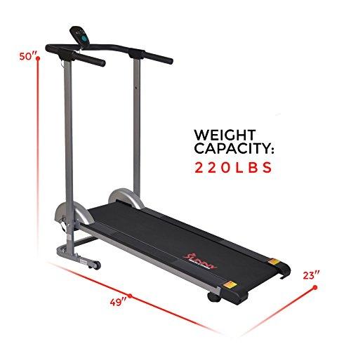 Sunny Health & Fitness SF-T1407M Manual Walking Treadmill, Gray by Sunny Health & Fitness (Image #15)