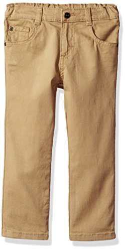 Wrangler Authentics Toddler Boys' Slim Straight Twill Pant, fawn 5T ()