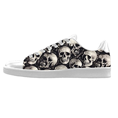 Vela Skull Men' High Di Panno Scarpe Custom Canvas A Lace Top Tela Sneakers S Shoes C Up AB5w7