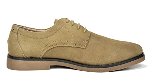 BRUNO MARC NEW YORK Mens Suede Leather Lace Up Oxfords Shoes Wrangle-sand N66TLjDXHW