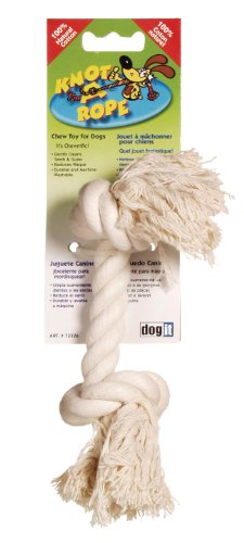 Hagen 72326 Dogit Knot-A-Rope Bone, Ivory, Medium, My Pet Supplies