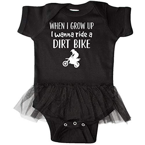 inktastic - Dirt Biking Motocross Infant Tutu Bodysuit 12 Months Black 33f62