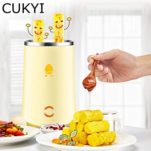 Gano Zen 140w Hold Electric Automatic Rising Double Egg Roll Maker - Cooking Tool - Egg Cup Omelette Master Sausage Machine Yellow