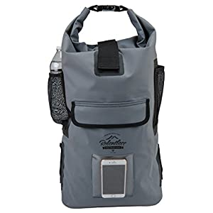 Relentless Recreation Dry Bag Backpack | 30L Waterproof - 500D PVC Tarpaulin | Splash Proof Cell Phone Pocket | Rolltop Drybag for Kayaking, Boating, Hiking, Camping, Fishing & All Water Sports | Gray