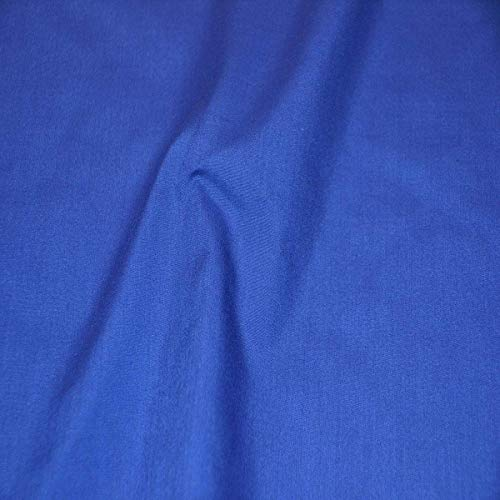 """AK TRADING CO. 60"""" Wide Premium Cotton Blend Broadcloth Fabric by The Yard - Royal Blue"""