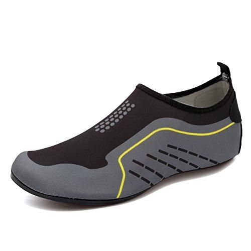 CIOR Männer und Frauen Barfuß Haut Aqua Schuhe Rutschfeste Multifunktionale Wasserschuhe Für Strand Pool Surf Yoga Übung Gray001