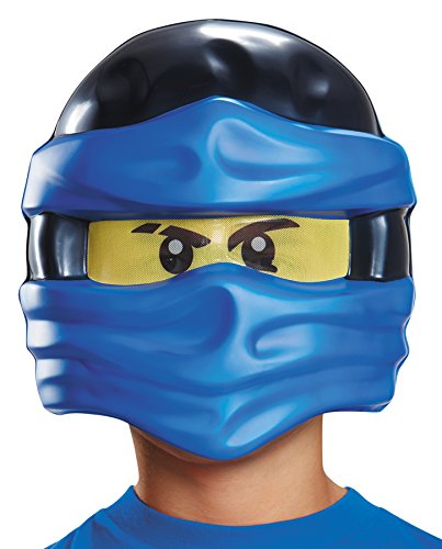 [UHC Lego Ninjago Jay Half Mask Blue Minifigure Plastic Child Theme Party] (Ultimate Party Animal Halloween Costume)