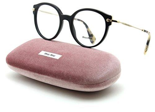 - Miu Miu 04PV Women Round Eyeglasses Prescription-Ready RX Frame 1AB/1O1, 50mm