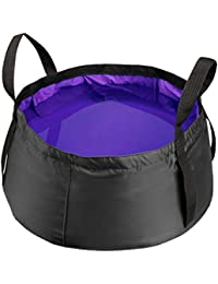 Bargain 20l Outdoor Folding Water Basin Washbasin Camping Fishing Travel Footbath (purple) lowestprice