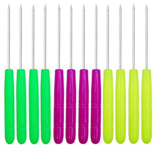 Antallcky 12 Pack Sugar Stir Needle Scriber Needle Modelling Tool, DIY Baking Pin Whisk Stainless Steel Needle Biscuit Cookie Icing Pin Icing Sugarcraft Cake Decorating ()