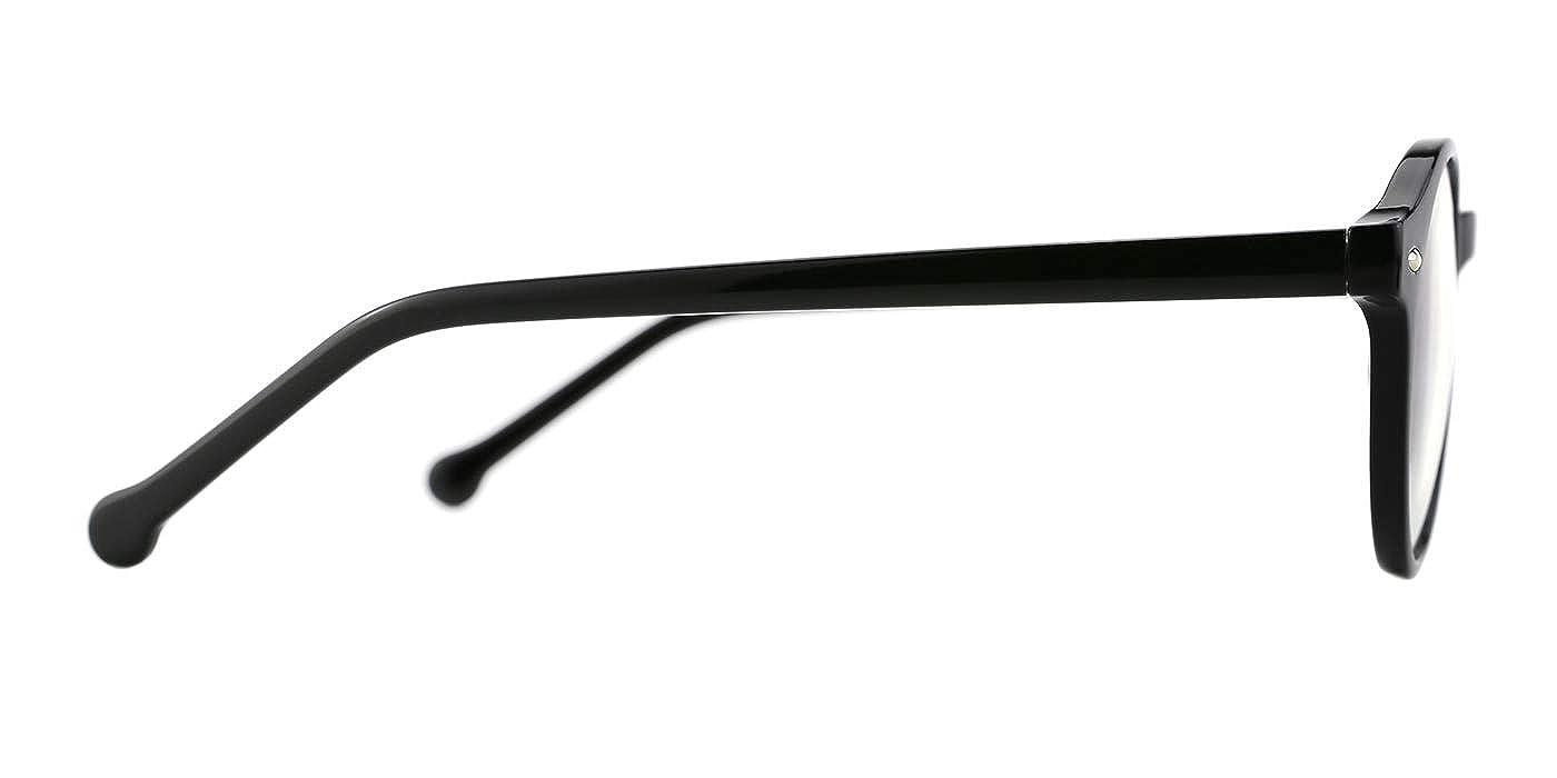 e13cc5bb70 TIJN Lunettes anti Lumière bleue Anti fatigue oculaire Ronde Optique  Monture Lunettes de vue pour Ordinateur ...
