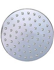 LANZHEN-RY Handdouche douchekop 6 Inch ronde douchekop regendouche douchekop chroom afwerking met draaibare bal aansluiting voor badkamer accessoire