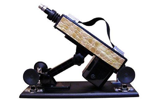 Love Sex Machine A-06 Super Automatic Pumping & Thrusting Adjustable Dildo Masturbation Handheld Shoot Gun Sweetheart J5282#D1 (Snake skin pattern Gold) by Miss Flora