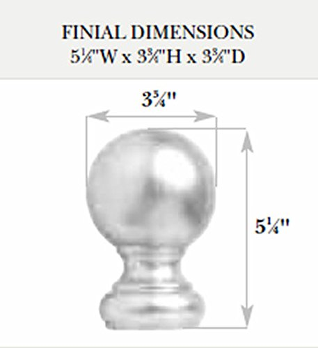 Kirsch Wood Trends Classics Ball Finial, for 2'' pole, Unfinished (MPN# 5508EG091)