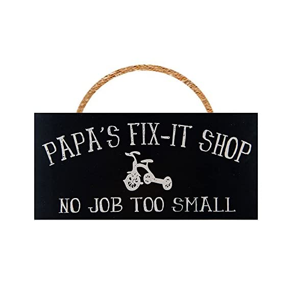 Man Cave and Garage Wall Decor Signs (Papa's Fix-It Shop) - ***HANDMADE IN THE USA BY A LOCAL ARTIST*** ***UNIQUE GIFT FOR ANY MAN CAVE OR GARAGE*** ***HIGH QUALITY MATERIALS AND CRAFTSMANSHIP*** - living-room-decor, living-room, home-decor - 41bvLgYVHGL. SS570  -