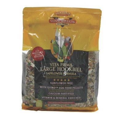 sunseed vita prima large hookbill safflower formula 4.5lb 2 (Hookbill Food)