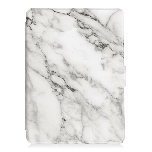 Fintie Slimshell Case for Kindle Paperwhite - Fits All Paperwhite Generations Prior to 2018 (Not Fit All-New Paperwhite 10th Gen), Marble