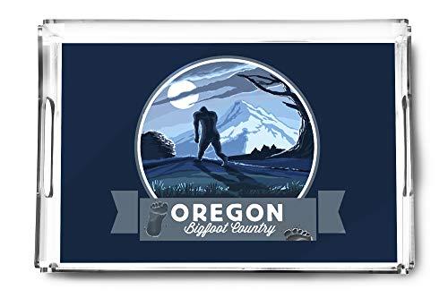 (Oregon - Bigfoot Country - Contour (Acrylic Serving Tray))