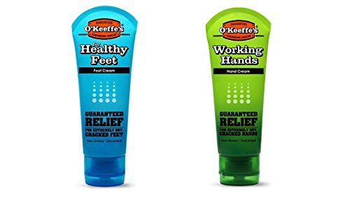 O'Keeffe's Working Hands & Healthy Feet 3 ounce Combination Pack of Tubes