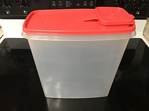 Tupperware Super Cereal Storer with Guava/Watermelon Seal Holds 20 Cups (Tupperware Super Cereal)