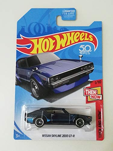 (Hot Wheels 2018 Super Treasure Hunt Then and Now - Nissan Skyline 2000 GT-R (TH Logo with Real Riders Tires))