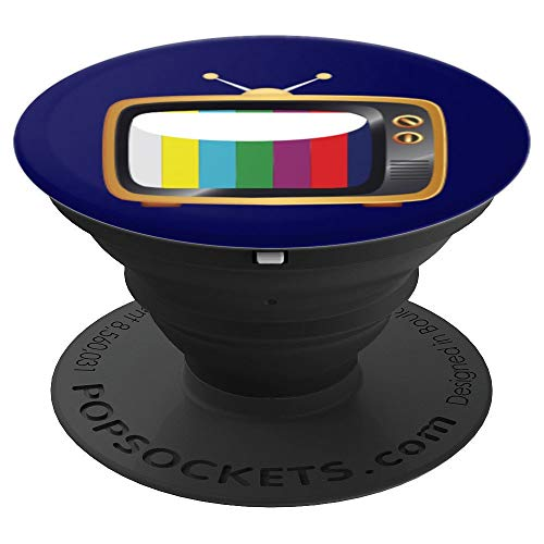 Rainbow Vintage TV Television Set Tube Pop Socket Gift - PopSockets Grip and Stand for Phones and Tablets