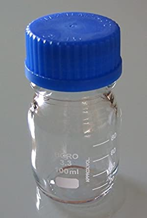 Autoclavable 1 Laboratory Pages/ /Labor Bottle Clear Borosilicate Glass 3.3/GL45 100 mL