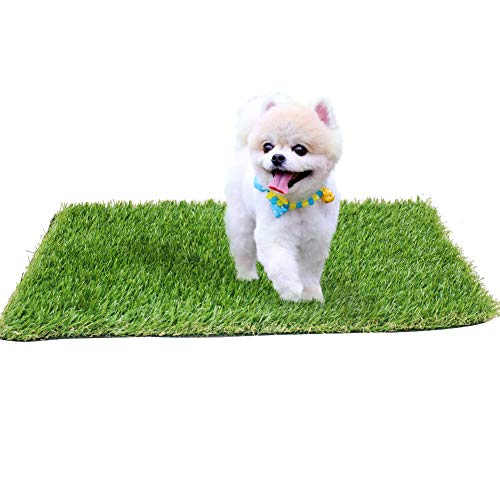 kaizein Artificial Grass for Dogs to Pee Pads,4-Tone 16 x 24inch Blade Height 1.38