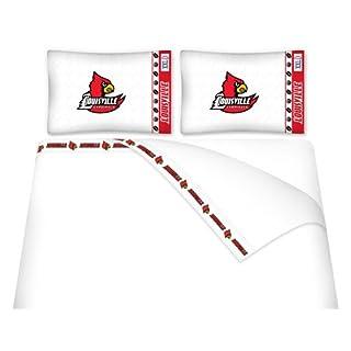 NCAA Louisville Cardinals Micro Fiber Sheet Set, Queen