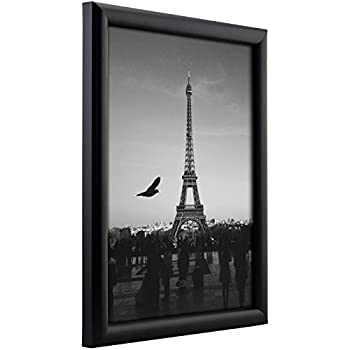 craig frames fw2bk2436a 0765 inch wide pictureposter frame in smooth finish 24 by 36 inch matte black
