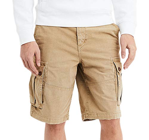American Eagle Mens 6721273 Ne(x) t Level Longer Lenght Cargo Short, Vintage Khaki