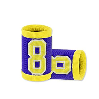 Sports Wristbands Cotton Digital Pattern Blue Yellow for Towel Wristguards Basketball Soccer Jogging Fitness Men Women Kids Arthritis and Carpal Tunnel Estimated Price £14.60 -