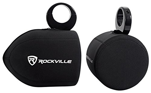 "Pair Rockville RWBC Neoprene Covers For 6.5"" Marine Wakeboard Tower Speakers"