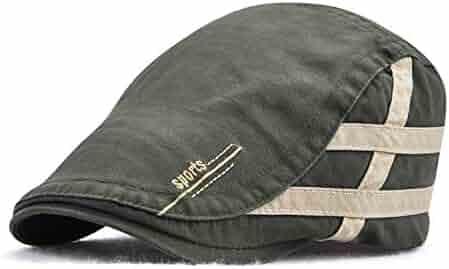 ea3ff8f4 Soft Striped Newsboy Hat British Gentleman Duckbill Visor Golf Peaked Caps  Casual Boina Cap Men Flat