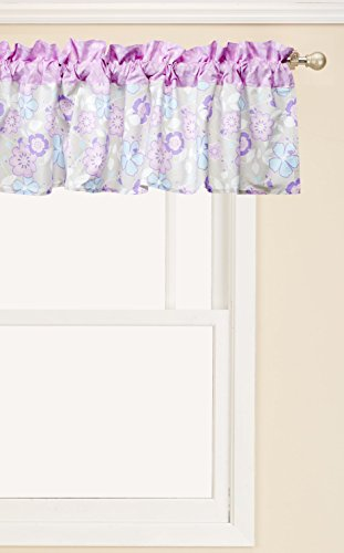 - Trend Lab Grace Window Valance, Purple, Blue, Gray and White